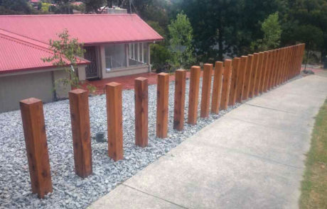 landscape construction project